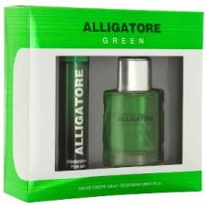 Подарочный набор  для мужчин Alligatore Green  (Аллигатор  Грин) (туалетная вода 100 мл + дезодорант 75 мл)