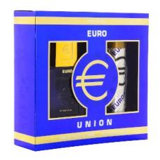 Подарочный набор  для мужчин  Евро Юнион  (туалетная вода 100 мл + дезодорант 75 мл)
