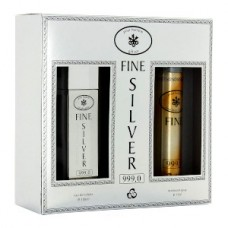 Подарочный набор  для мужчин  Слиток Fine Silver  (туалетная вода 100 мл + дезодорант 75 мл)