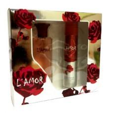 Подарочный набор  для женщин L'amor (Л'Амур) (туалетная вода 50 мл + дезодорант 75 мл)