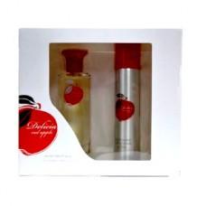 Подарочный набор  для женщин  Delicia red apple (Делисия Ред Эппл) (туалетная вода 50 мл + дезодорант 75 мл)