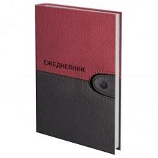 Ежедневник датированный на 4 года, BRAUBERG Кожа бордо, А5, 133х205 мм, 192 листа