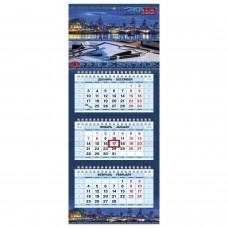 Календарь квартальный Hatber 3-х блоч. 2019 Office Style