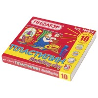 Пластилин классический Пифагор Эники-Беники, 6 цветов, со стеком, картонная упаковка, 120 г