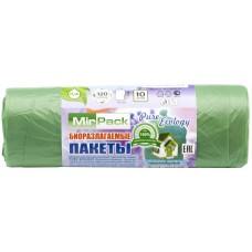 Мешки для мусора биоразлагаемые Пнд MirPack зеленые, 120 л, 12 мкм, 10 шт