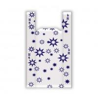 Пакет полиэтиленовый майка Звезда, 17 микрон, 58х60 см (цвет бело-синий)