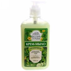 Крем-мыло жидкое Русские травы Огуречное, с дозатором, 300 мл