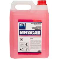 Средство для очистки и дезинфекции сантехники и кафельной плитки Мегасан, концентрат, 5 л