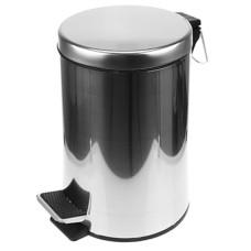 Ведро для мусора из нержавеющей стали с педалью д22,5 см, h33 см, вставка-ведро пластмассовое, д21,5 см h27, 8 л