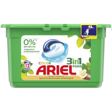 Гель для стирки в растворимых капсулах ARIEL автомат Масло Ши, 12 шт*28,8 г