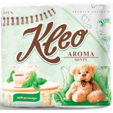 Туалетная бумага Kleo Aroma Minty (Мята), трехслойная, 4 рулона