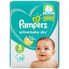 Подгузники Pampers (Памперс) Active Baby Midi 3 (6-10 кг), 22 шт