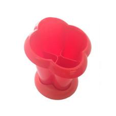 Сушилка для столовых приборов, 4 секции, цвета микс, d14 cм