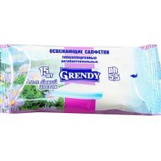 Влажные салфетки Grendy (Гренди) Альпийский цветок, 15 шт