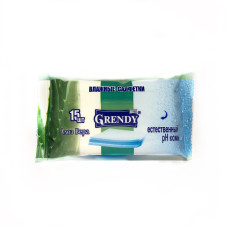 Влажные салфетки Grendy (Гренди) Алоэ вера, 15 шт