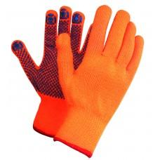 Перчатки защитные зимние акриловые с Пвх покрытием