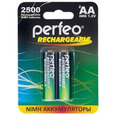 Аккумуляторы Perfeo (Перфео) AA 2500 mAh/2BL 2 шт