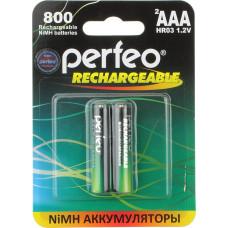 Аккумуляторы Perfeo (Перфео) AAA 800 mAh, 2 шт