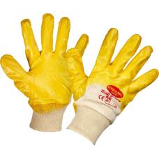 Перчатки защитные Лайт неполное нитриловое покрытие резинка