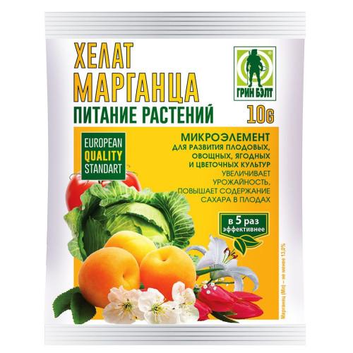 Хелат марганца для цветочных, овощных, плодовых и ягодных культур, 10 гр купить оптом, цена, фото - интернет магазин ЛенХим