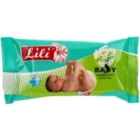 Детские влажные салфетки Lili (Лили) с экстрактом Ромашки, 15 шт