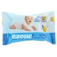 Детские влажные салфетки Ozone (Озон) с аром Ромашки, 20 шт
