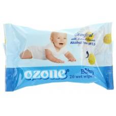 Детские влажные салфетки Ozone (Озон) с ароматом Ромашки, 20 шт