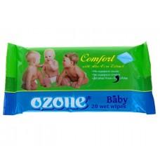 Детские влажные салфетки Ozone (Озон) с ароматом Алоэ, 20 шт