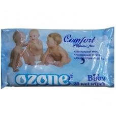 Детские влажные салфетки Ozone (Озон) с ароматом Календулы, 20 шт
