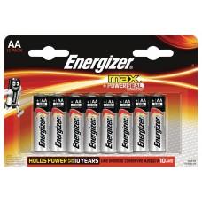 Батарейка Energizer Max, AA/LR6, 1.5 V, (блистер), 8 шт