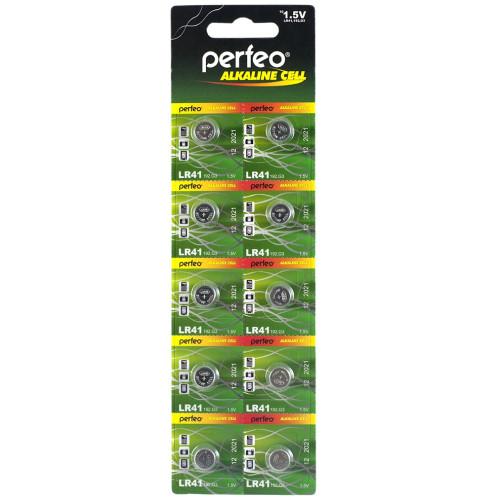 Батарейка литиевая таблетка Perfeo (Перфео) Alkaline Cell, LR41