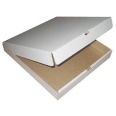 Коробка для пиццы гофрокартон, 25х25х4 см, (белый)