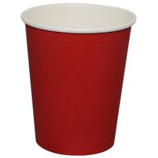 Стакан одноразовый бумажный для горячих напитков Red, 250 мл, 50 шт