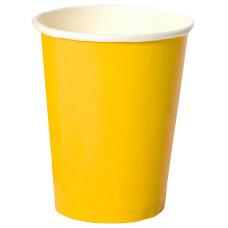 Стакан одноразовый бумажный для горячих напитков Yellow, 250 мл, 50 шт