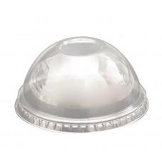 Крышка для стаканов Пэт купольная без отверстия d-95 см, 50 шт