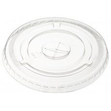 Крышка для стаканов Пэт плоская с крестовым отверстием d-95, 50 шт