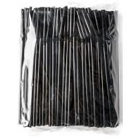Трубочки для коктейлей с гофр. черные, 100 шт