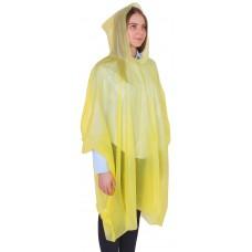 Дождевик-пончо Эконом, универсальный размер, цвет жёлтый