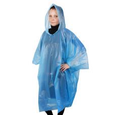 Дождевик-пончо Эконом, универсальный размер, цвет голубой