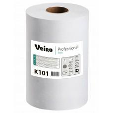 Полотенце бумажное рулонное Veiro Professional Basic K101 однослойное 180 метров