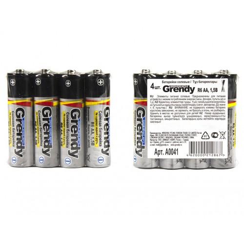 Батарейки Гренди солевые R6 AA 1,5 Вт 4 шт