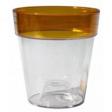Горшок для орхидеи пластмассовый Протея (Янтарь), 1,4л