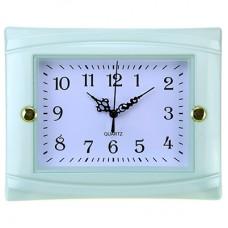 Часы настенные пластмассовые Студентка (цвет голубой), циферблат белый, 22,5х18х3,5 см