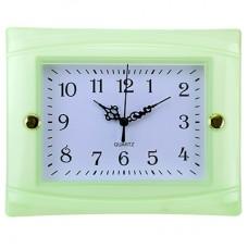 Часы настенные пластмассовые Студентка (цвет мятный), циферблат белый, 22,5х18х3,5 см