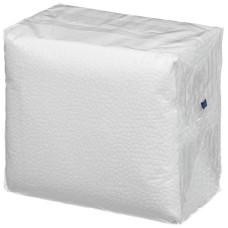 Салфетки бумажные 1-слойные, тиснение сплошное, 100 листов (белые), 24 см