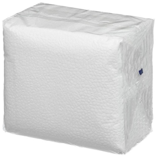 Салфетки бумажные 1-слойные, тиснение сплошное, 100 листов (белые), 24 см купить оптом, цена, фото - интернет магазин ЛенХим
