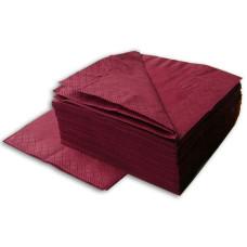 Салфетки 2-слойные 33*33, 200 штук, (бордовые)
