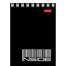 Блокнот Hatber Inside (Хатбер Инсайд) А7, гребень, офисный стиль, 40 листов, 75х105 мм