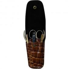 Набор маникюрный Zinger (Зингер) дорожный (пилка алмазная, ножницы, пинцет QS-MS-02), 3 предмета
