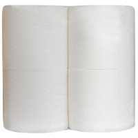 Туалетная бумага  JOY Eco 2-слойная (белая), 4 рулона, (безликая)